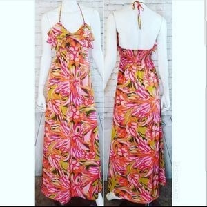 Alice & Trixie Silk Floral Maxi Dress Size XS